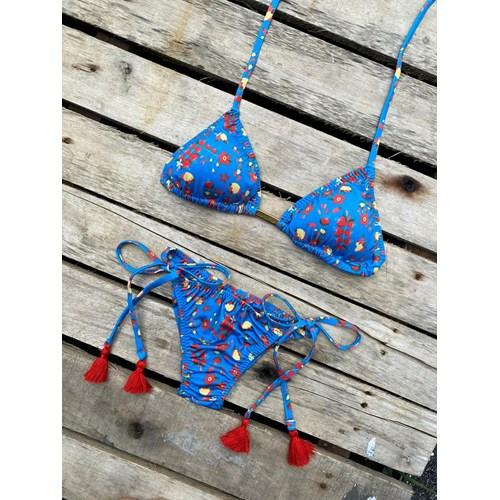 Conjunto Cortininha + Calcinha Modeladora Cajuzinho Azul