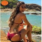 Conjunto Surf + Calcinha Lacinho Frufru Limão Canelado
