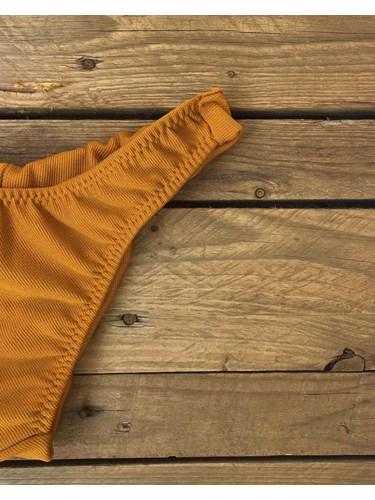 Calcinha Asa Delta Dourado Textura