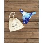 Calcinha Asa Delta Tie Dye Azul Royal Canelado