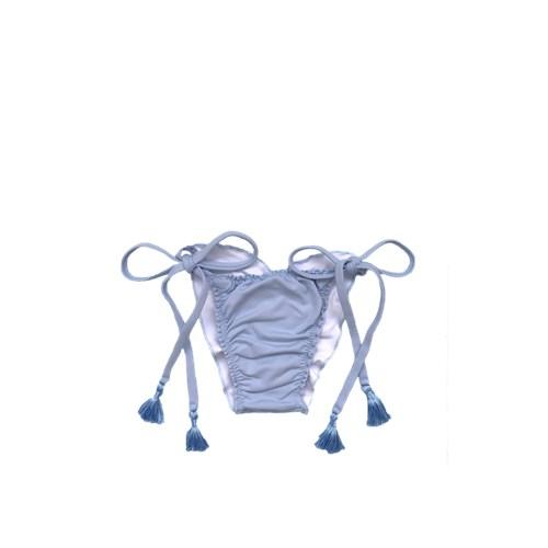 Calcinha Frufru Azul Bebê com Tassel