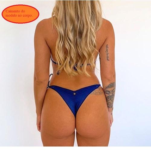 Calcinha Semi Fio Azul Marinho T
