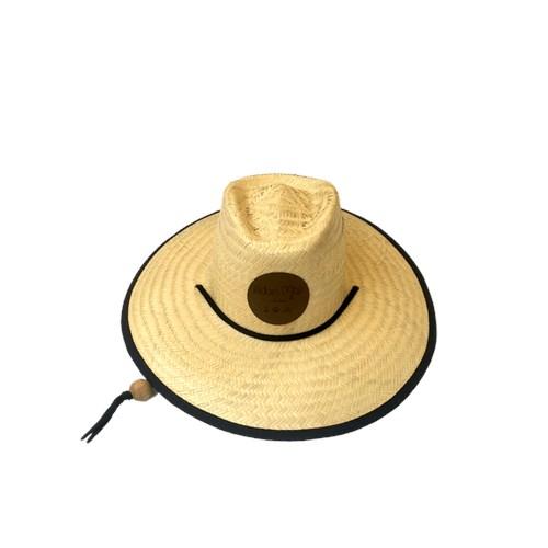 Chapéu de Palha Outlander Floral Laranja